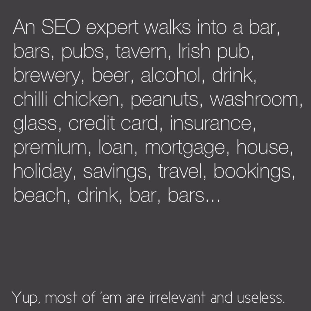 SEO expert…